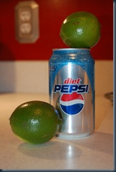 diet pepsi with lime